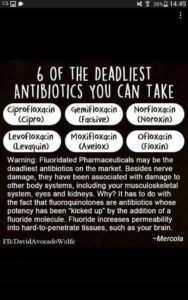 Six Deadly Antibiotics