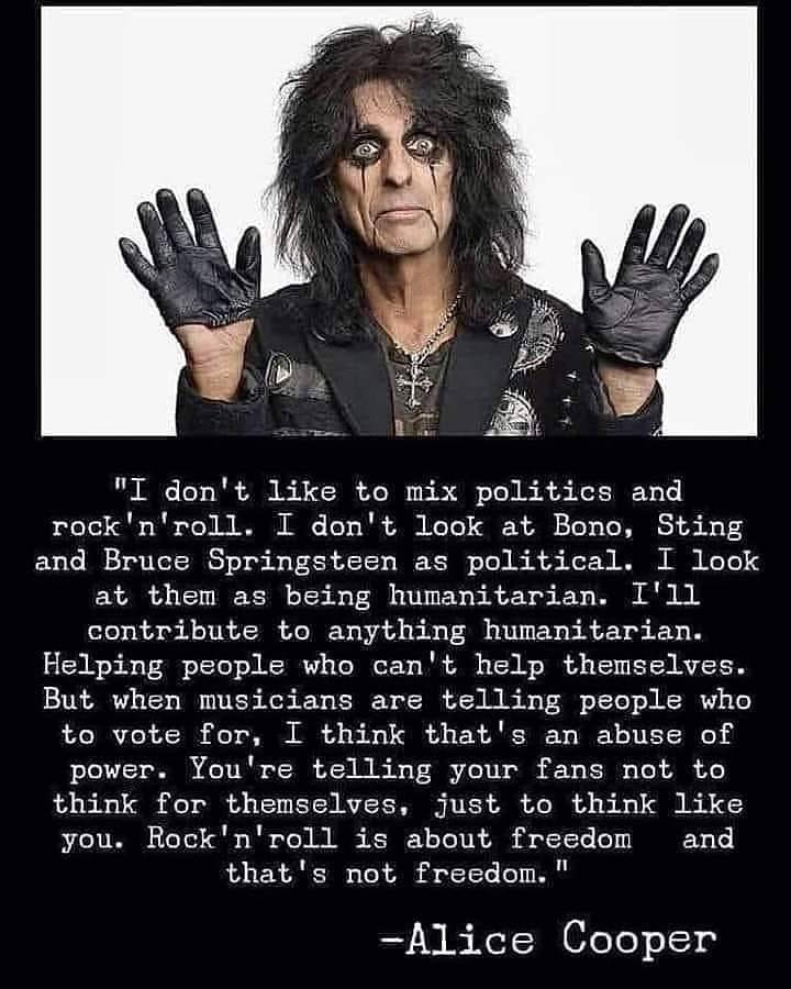 Alice Cooper On Politics