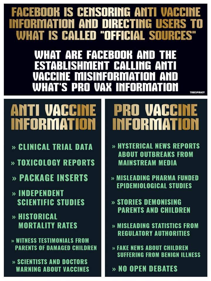 Facebook Vaccine Censorship Nicely Summarised