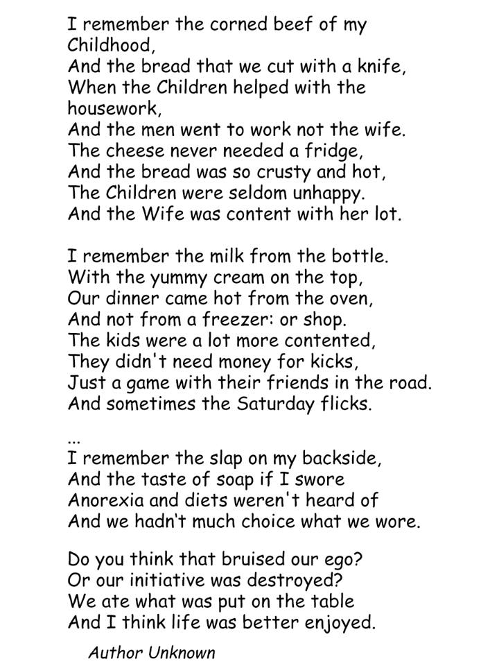 A Poem About The Past