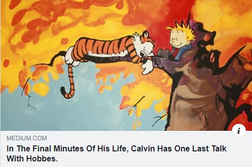 Calvin's Final Talk To Hobbes