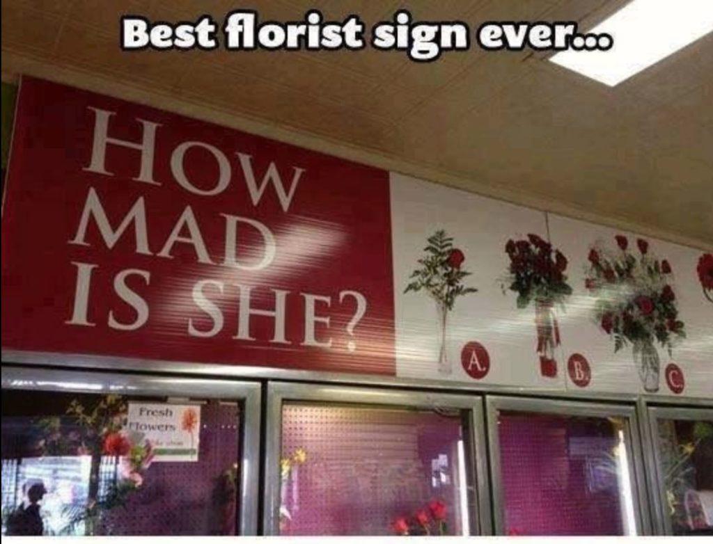 Best Florist Sign