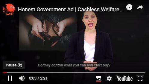 Honest Govt Ad Cashless Welfare Card