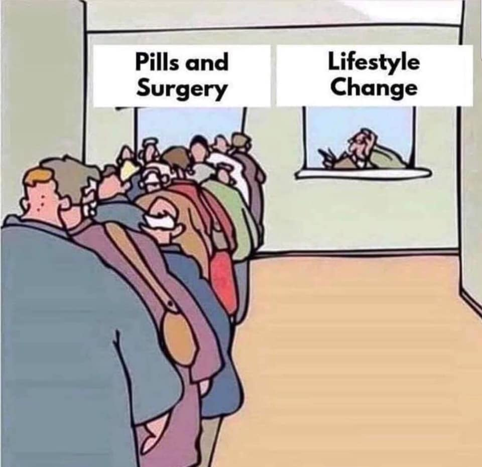 Pills And Surgery Or Lifestyle Change?