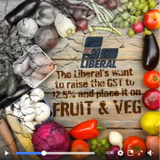 Liberals Want To Raise GST And Apply It To Fruit And Veg