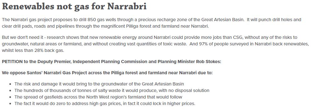 Help Oppose Santos' Narrabri Gas Project across the Pilliga forest and farmland