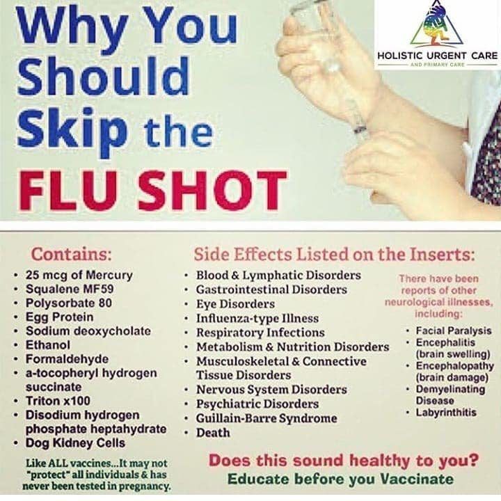Why You Should Skip The Flu Shot