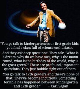 Carl Sagan On Curiosity