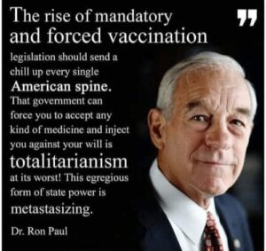 Dr Ron Paul On Forced Vaccinations
