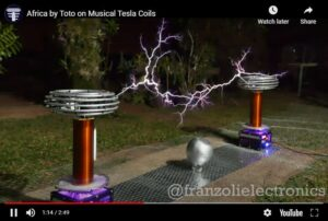 Africa By Toto On Tesla Coils