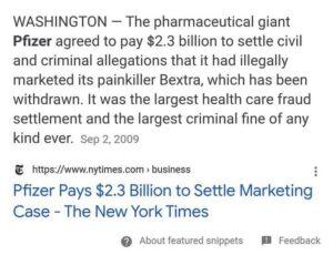 Pfizer Settlement