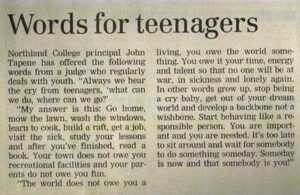 Wise Words For Teenagers