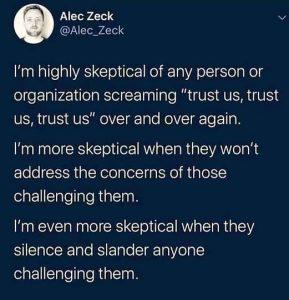 Good Reason For Skepticism