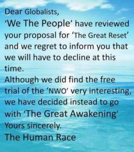 Awakening versus Reset