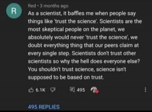 Scientists Don't Trust Science