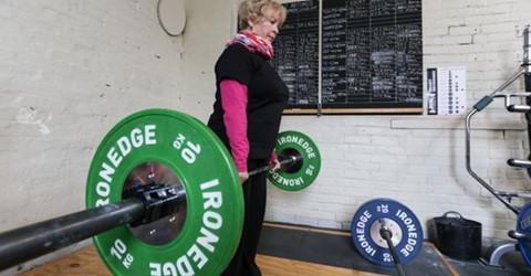Lady Doing Strength Training