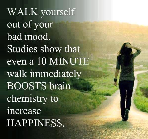 Walking Boosts Mood