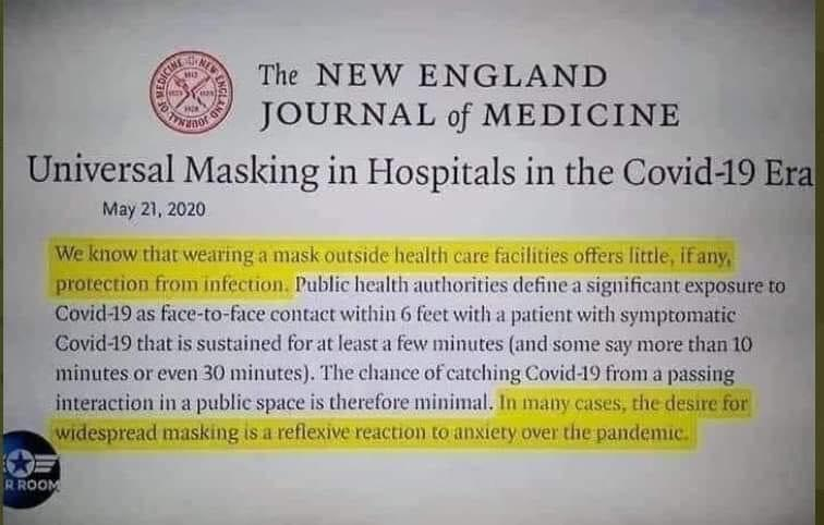 NEJM On Masks
