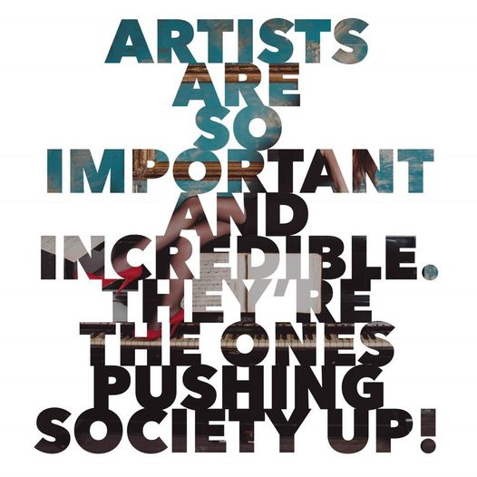 Artists Push Society Up