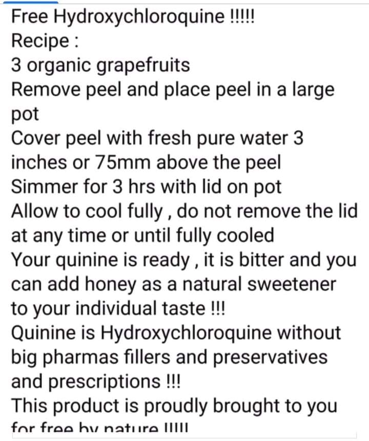 Natural Source Of Quinine