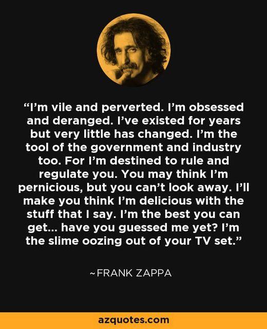 Wisdom From Frank Zappa